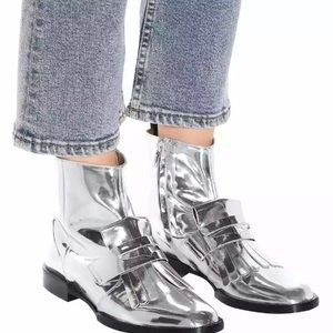 Clergerie ankle boots Silver Leather 6.5